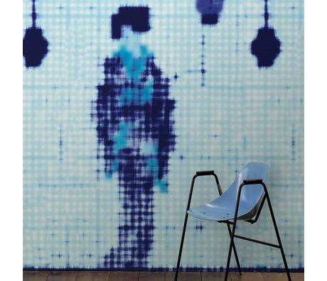 NLXL-Paola Navone Papier peint Geisha debout bleu 330x146.1cm (4.8 m2)