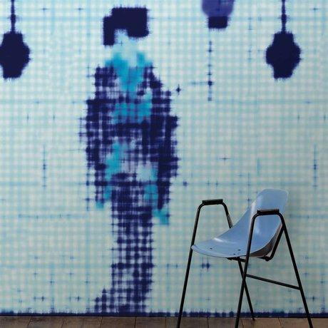 NLXL-Paola Navone Tapete Geisha stehend blau 330x146,1 cm (4,8 m2)