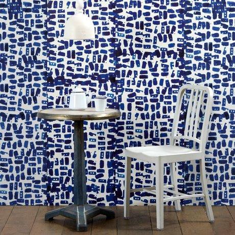 NLXL-Paola Navone Papier peint Tye & Dye bleu 1000x48.7cm (4.9 m2)