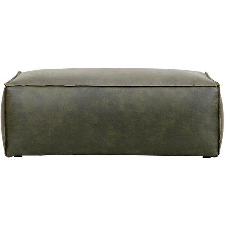 BePureHome Poof armée Rodeo cuir vert 43x120x60cm