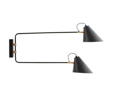 Housedoctor Wandlamp club zwart ijzer Ø18-20x81x42cm