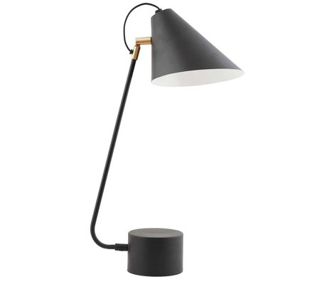 Housedoctor Table lamp black iron club Ø18-20x54cm
