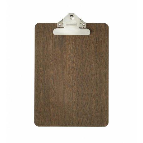 Ferm Living Clipboard brown wood a5