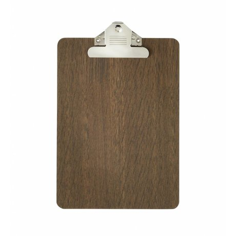 Ferm Living Klembord bruin hout a5