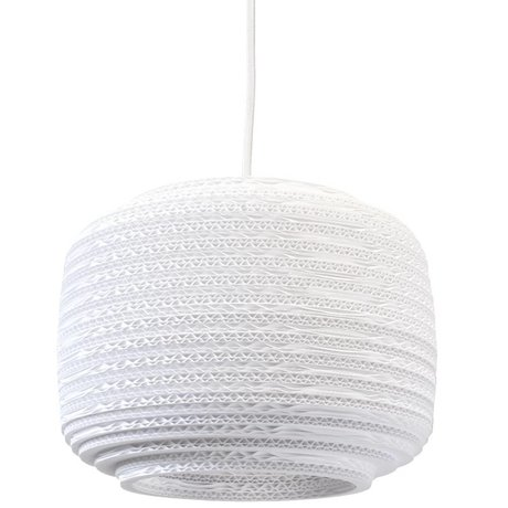 Graypants Pendant Light ausi 12 carton blanc Ø28x20cm