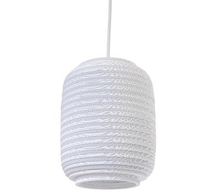 Graypants Ausi 8 hanging lamp Pendant white cardboard Ø19x24cm