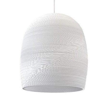 Graypants Bell Pendant hanging lamp 16 white cardboard Ø38x40cm