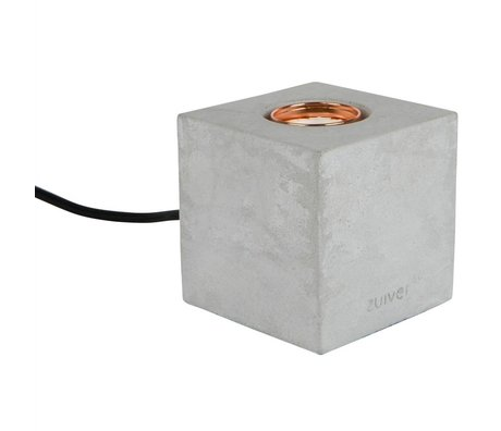Zuiver Table Lamp Bolch concrete gray 8,5x8,5x8,5cm