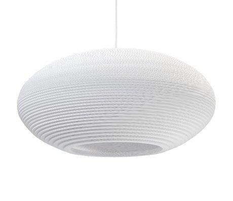 Graypants Disc Anhänger Hängelampe 24 weiße Pappe Ø61x26cm