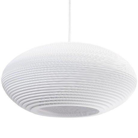 Graypants Disc Pendant hanging lamp 20 white cardboard Ø50x23cm