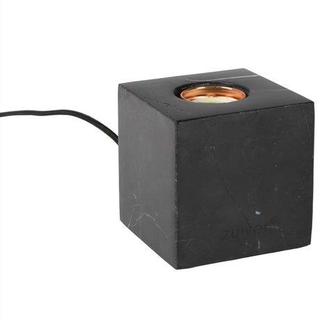 Zuiver Tafellamp Bolch zwart marmer 8,5x8,5x8,5cm