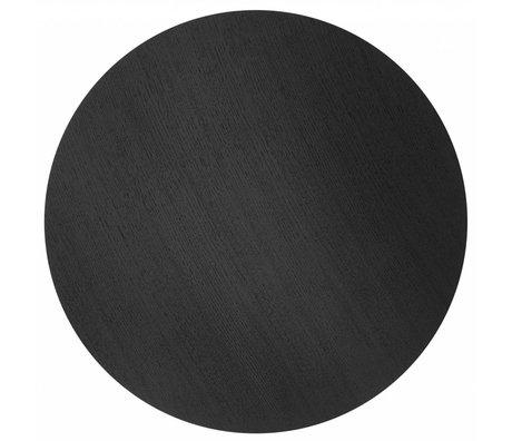 Ferm Living Blad voor metalen mand Ø60cm zwart eiken fineer