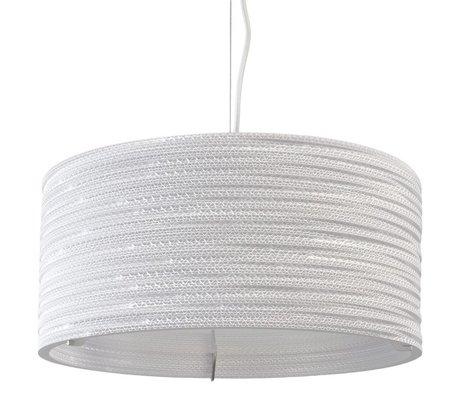 Graypants Drum Pendant hanging lamp 18 white cardboard Ø45x21cm