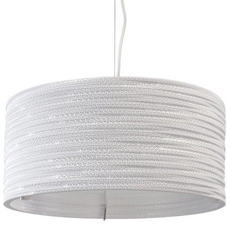 Graypants Tambour pendentif lampe suspendue 18 carton blanc de Ø45x21cm
