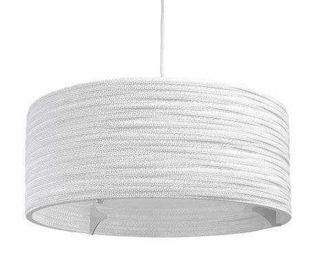 Graypants Drum Pendant hanging lamp 24 white cardboard Ø61x24cm