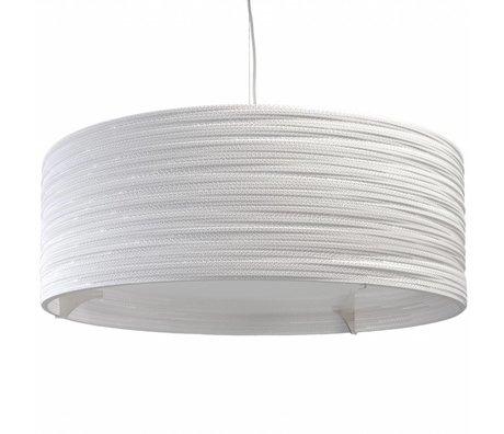 Graypants Drum Pendant hanging lamp 36 white cardboard Ø92x35cm