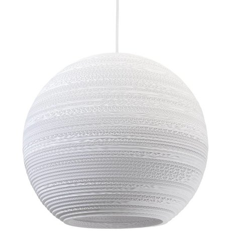 Graypants Moon Pendant hanging lamp 18 white cardboard Ø45x40cm