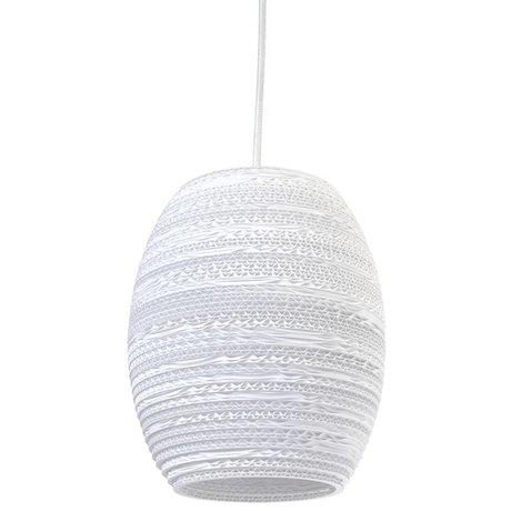 Graypants Oliv Pendelleuchte Anhänger weiße Pappe Ø19x22cm