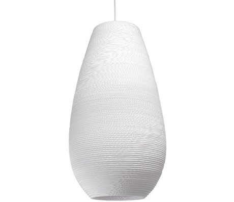 Graypants Drop Pendant hanging lamp 26 white cardboard Ø36x65cm