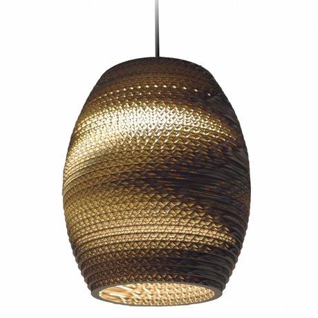 Graypants Pendant Light Olive Natural brown cardboard Ø19x22cm