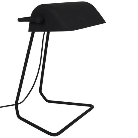 Zuiver Table lamp Broker black iron 30x20,5x35cm
