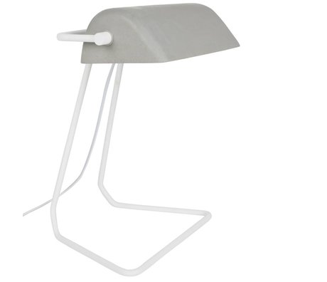 Zuiver Table Lamp Broker white gray iron 30x20,5x35cm
