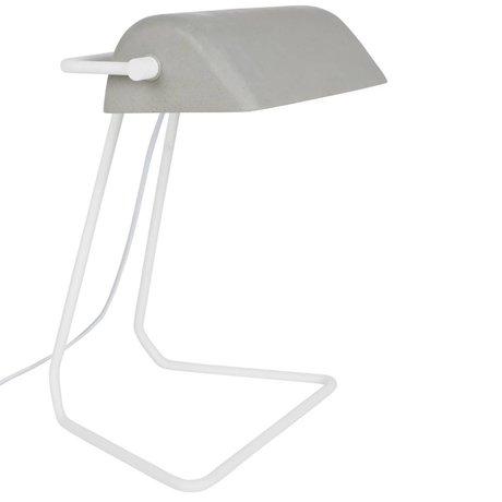 Zuiver Tischlampe Broker weiß grau Eisen 30x20,5x35cm