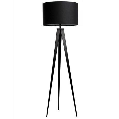 Zuiver Stativ-Stehlampe Stoff schwarz Metall 157x50cm