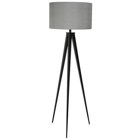 Zuiver Stativ-Stehlampe schwarz grau metallic Stoff 157x50cm