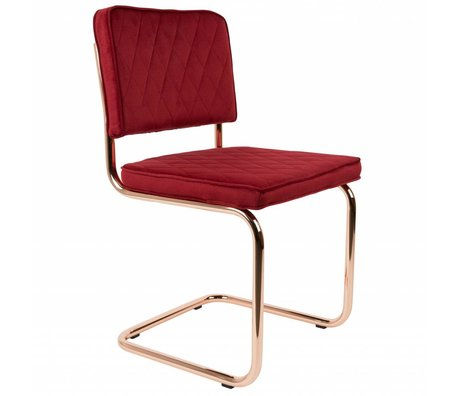 Zuiver Dining Chair Diamant rot Polyester 48x48x85cm