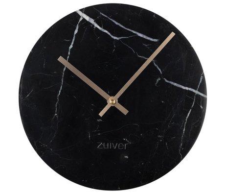 Zuiver Marmor Uhr gold schwarz Aluminium Marmor Ø25x4,5cm