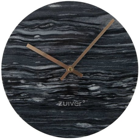 Zuiver Marble clock gray gold aluminum marble Ø25x4,5cm