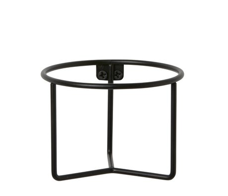 Ferm Living Plant container black metal Ø15x11cm