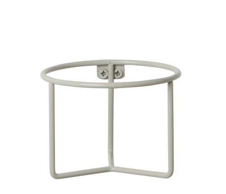 Ferm Living Plant holder gray metal Ø15x11cm