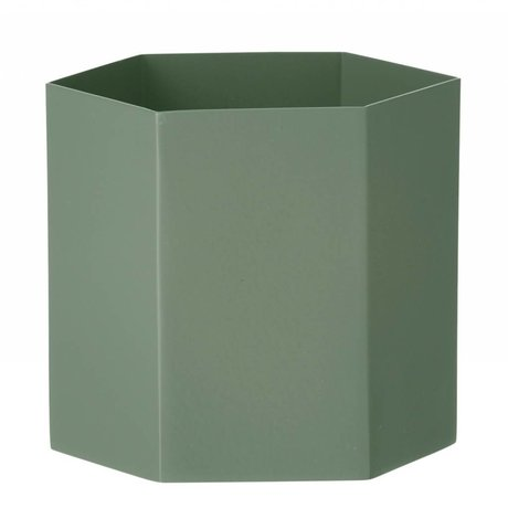 Ferm Living Pot Hexagon dusty groen Ø13,5x12cm- Large