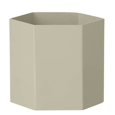 Ferm Living Hexagon pot Grand gris Ø13,5x12cm-
