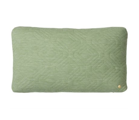 Ferm Living Cushion Quilted green 60x40cm