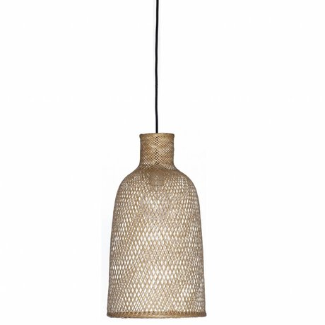 Ay Illuminate Bamboo Suspension M2 naturelle ø30x55cm de bambou brun