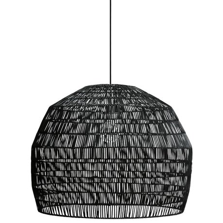 Ay Illuminate Hanging lamp Nama three black rattan ø72x57cm