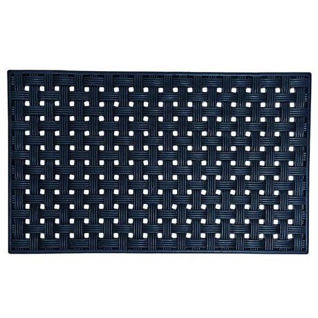 Housedoctor All Rubber mat design 02 black rubber 45x75cm