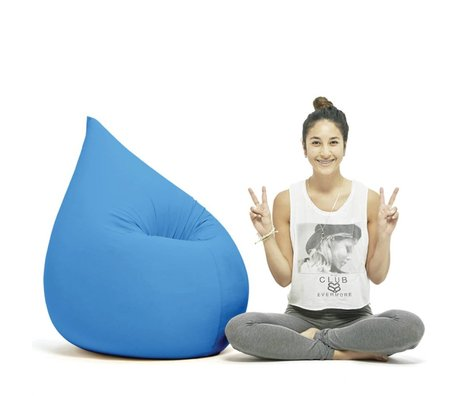 Terapy Beanbag Elly drop turquoise cotton 100x80x50cm 230liter