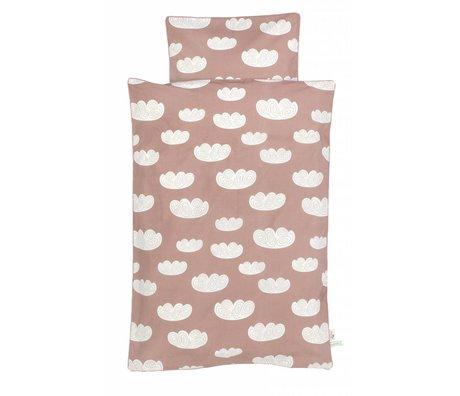 Ferm Living Nuages nuage rose housse de couette en coton 170x100cm -Baby