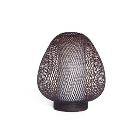 Ay Illuminate Lampe de table Twiggy AW brun Ø30x35cm de bambou