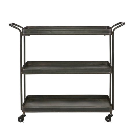 BePureHome Tea trolley black metal 85x99x36cm