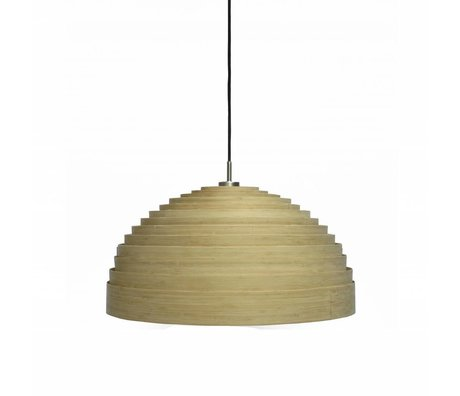 Ay Illuminate Suspension Lump Petit ø50x25cm en bambou brun naturel