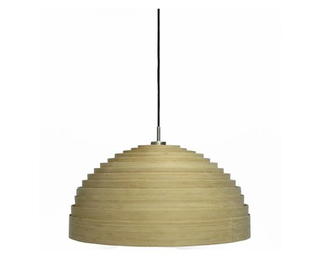 Ay Illuminate Suspension Lump moyen naturel brun bambou ø75x38cm