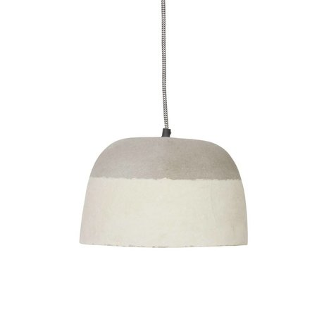 BePureHome Dawn resin pendant light gray paper Ø26x18cm