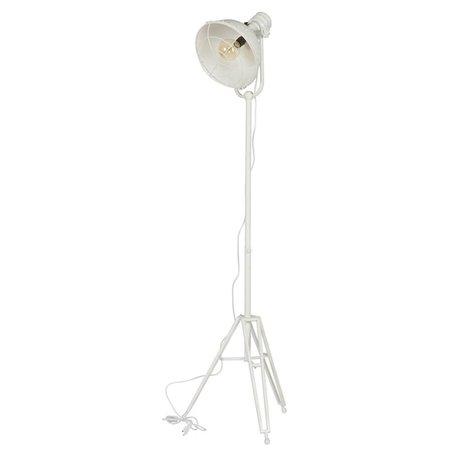 BePureHome Lampadaire projecteur 167x54x45cm en métal blanc
