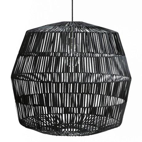 Ay Illuminate Hanging lamp Nama 4 black rattan ø72x69cm