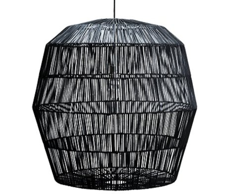 Ay Illuminate Hanging lamp Nama five black rattan ø78x78cm